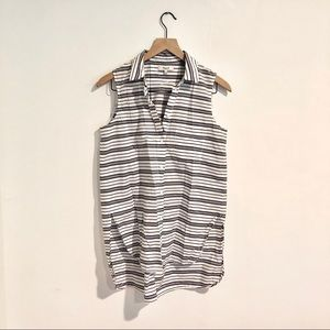Madewell Button-Down Sleeveless Striped Blouse